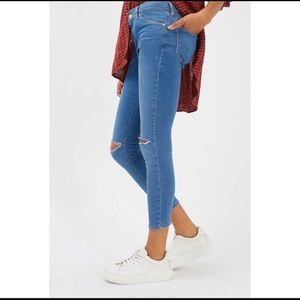 TopShop Leigh High Rise Skinny Jeans Size 32